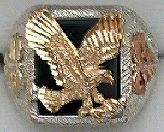 Black Hills Gold and Silver Eagle Ring