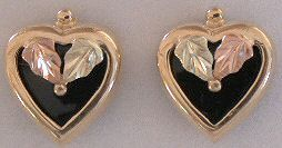 Heart Onyx Earrings