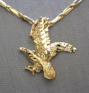 Bent Wing Eagle Pendant