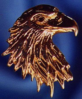 Eagle Head Pendant with Ruby Eye