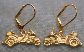 Trike Layered Gold Earrings on Leverbacks
