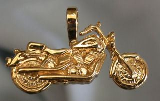 Custom Motorcycle Biker Jewelry Gold Eagle Pendants Wings of Gold